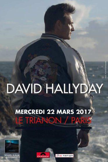 Affiche Trianon David Hallyday