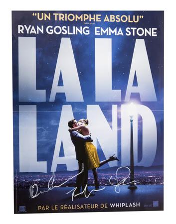 affiche-lalaland-dedicace-RyanGosling-EmmaStone